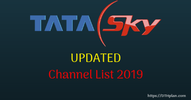 TATA SKY channel list 2019