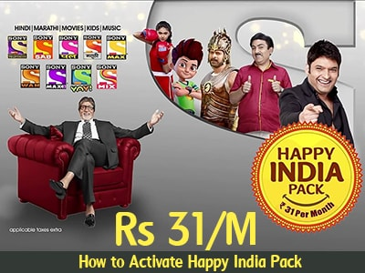 Happy India pack channel list: Sony Value pack at just Rs  31 [By TRAI]