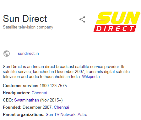 Sun Direct Channel list 2019 with Price List, Recharge