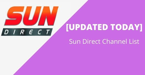 Sun Direct Channel List
