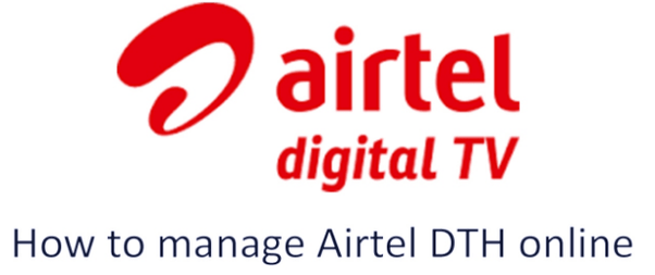 change airtel dth pack